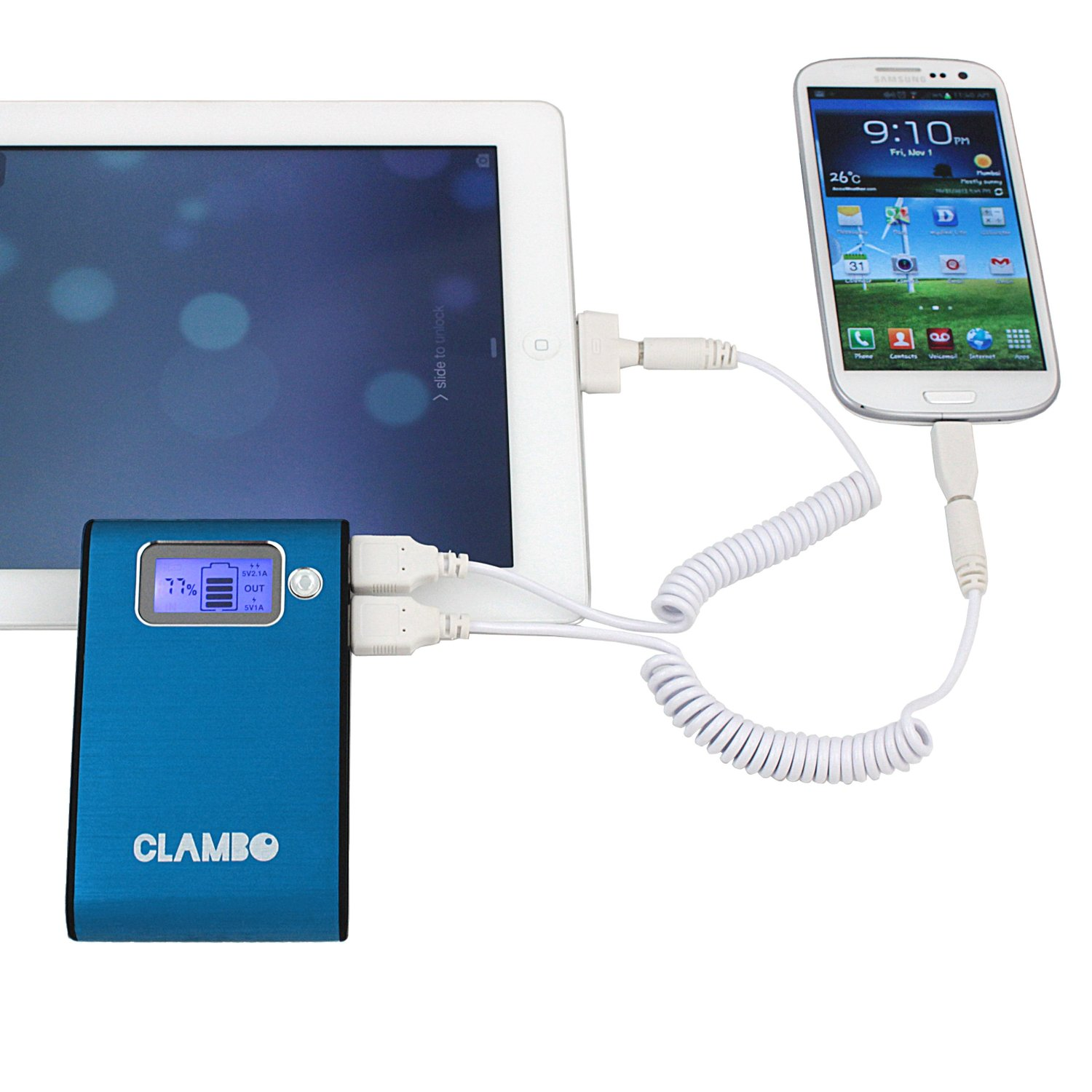 Clambo Power Bank Charging