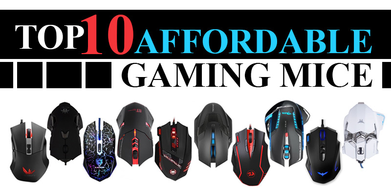Top Ten Affordable Gaming Mice Header