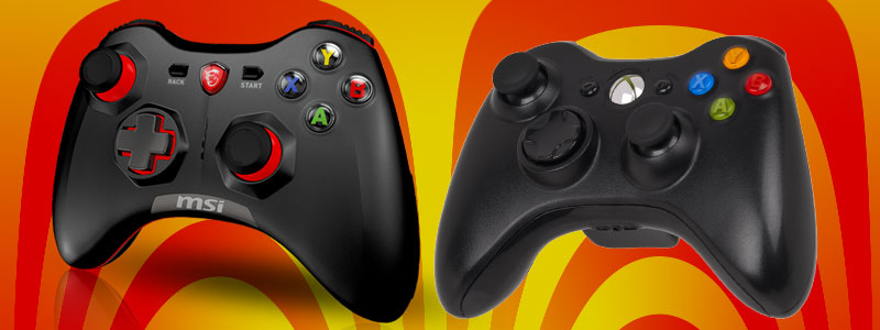 MSI Force GC30 Xbox 360 controller Comparrison