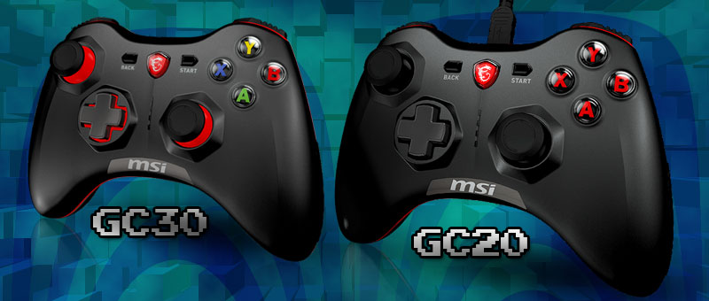 MSI Force GC30 & G20 Gaming Controllers