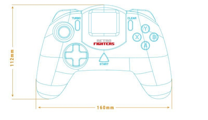Retro Fighters Dreamcast Controller Draft